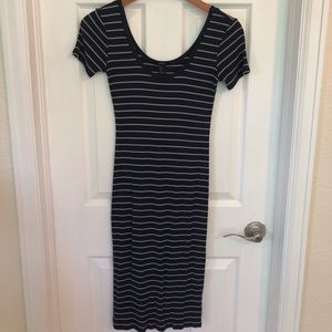 Blue & Tan stripe dress